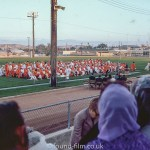 Graduation ceremony on sports field, October 1972