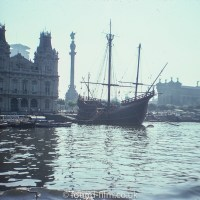 Sail boat in harbour - August 1975