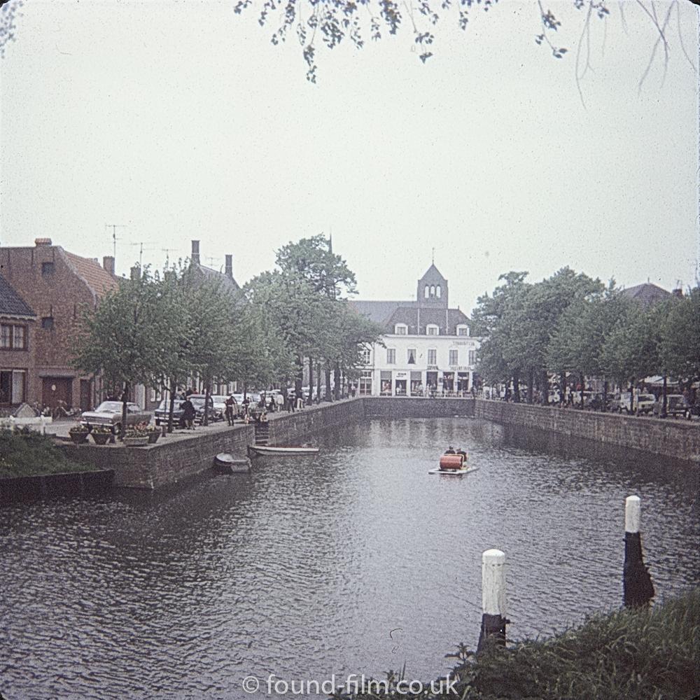 A river scene in Belgium - June 1970