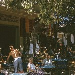 Greek street cafe scene from September 1966