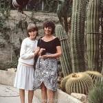Mother and daughter in Cactus garden in September 1981