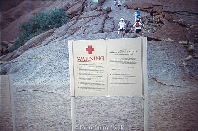 Ayres Rock - Safety warning