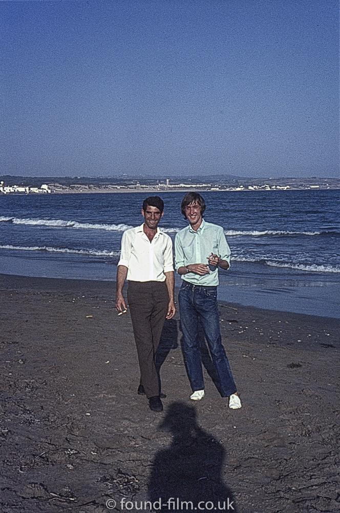 Seaside portrait of two men