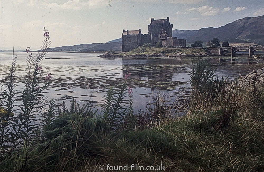 Eilean Donan Castle with foreground grass
