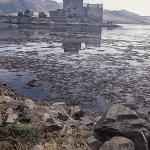 Eilean Donan Castle showing reflection in loch