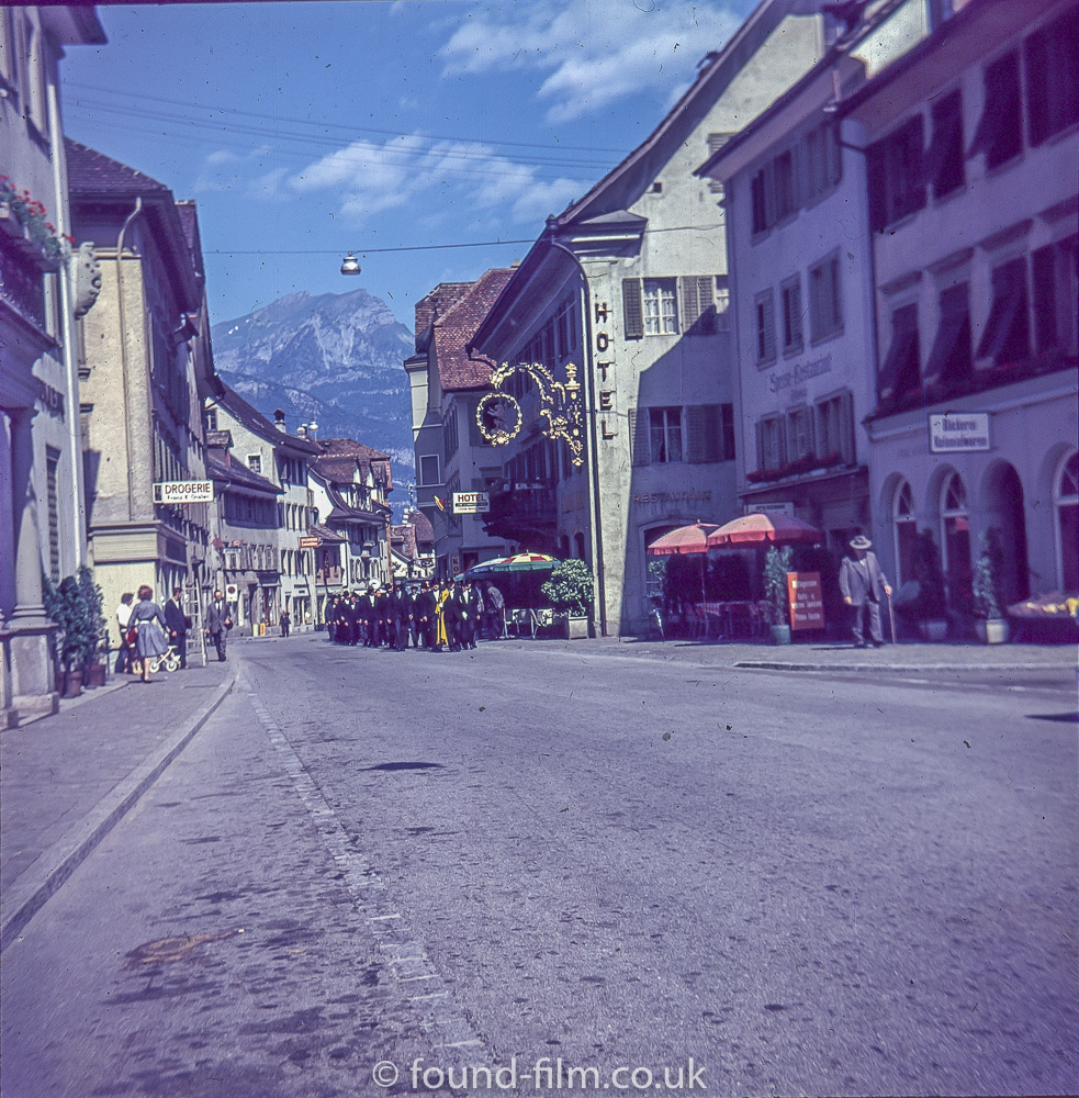 A parade in Altdorf about 1960