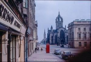 The Royal Mile in Edinburgh, 1967