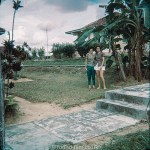 Two women in their garden in Singapore, early 1960s