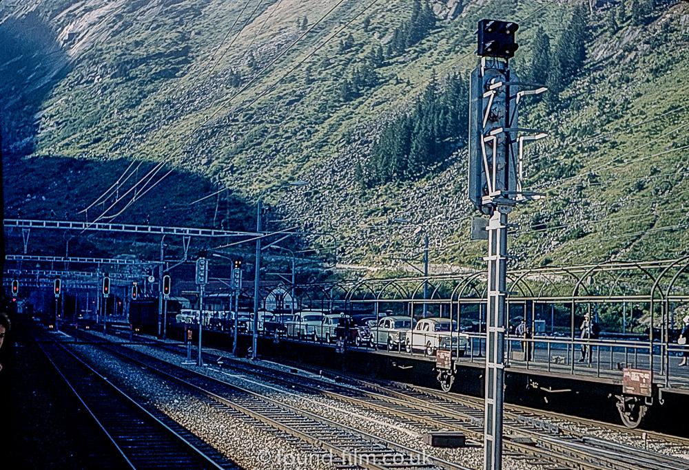 A Railway tunnel through the alps c1960