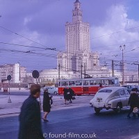 Palace of Culture and Science in Warsaw in the 1960s