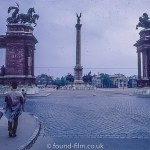 The Heros' Square monument in Budapest in the 1960s