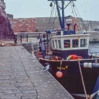 The fishing boat Viking Star at Dunbar in 1990