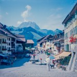 The Swiss town of Gruyeres in the early 1960s