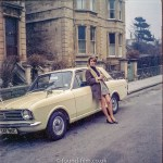 Woman with Ford Cortina in the early 1970s