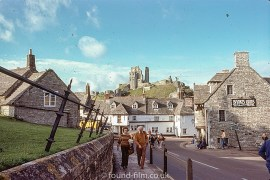 Corfe Castle in 1978