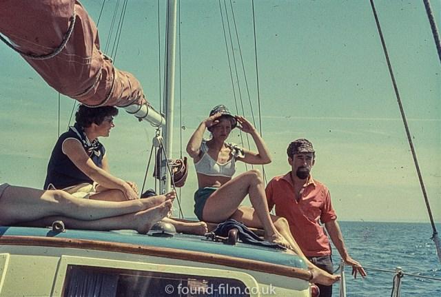 Perutz slide film - girl on a sailing boat