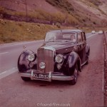 A Fine old Bentley Mark IV car parked on  the roadside
