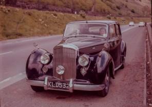 A Fine old Bentley Mark IV car parked on  the roadside