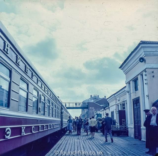 Images from Soviet Era Moscow - A Railway Station in Russia - 1957