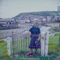 Portrait by river in Aberaeron, Wales