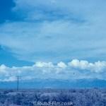 Anscochrome Film - Telegraph poles in the desert