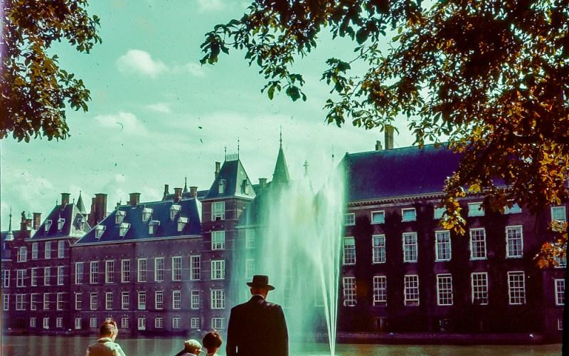 Hofvijver in the Hague, Holland - 1957