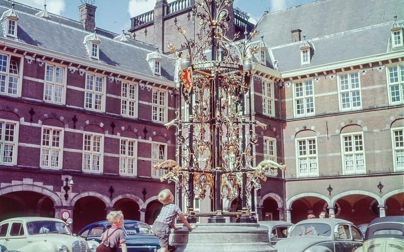 Fountain in Binnenhof, the Hague - 1957