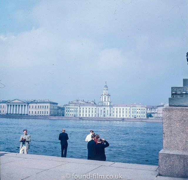 Images from Soviet era Leningrad - Neva embankment at Leningrad