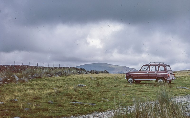 Ranault 4 car in a field