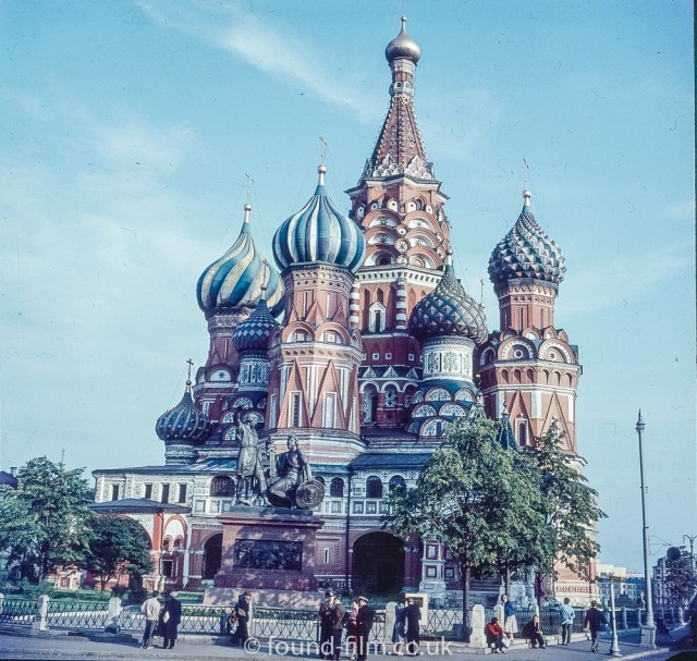 Images from Soviet Era Moscow - St Basil's Cathedral Moscow - 1957