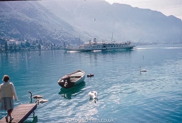 Paddle steamer Vevey on Lake Geneva