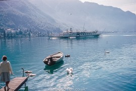 Paddle steamer Vevey on Lake Geneva