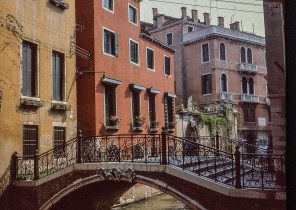 Views around Europe - Back Canal Venice in Italy, 1982