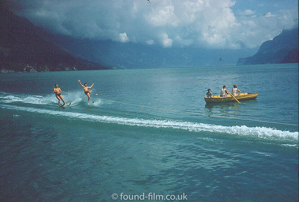 Waterskiing on a Swiss Lake, late 1950s