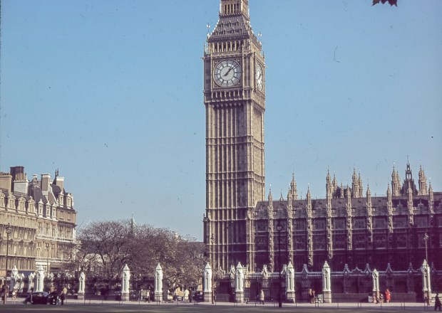 The Tower of Big Ben in London c1975