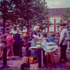 Fishwife in Delft market - 1957