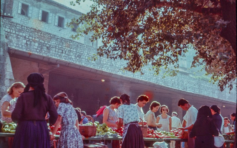 The Market in Kotor in the late 1950s