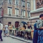 Street market in Rijecka – late 1950s