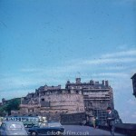 Edinburgh castle under repair in the late 1950s