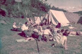 Family Camping Scene