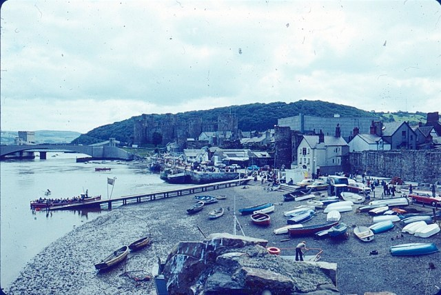 Orwo colour slides -Penrhyn bay and Castle