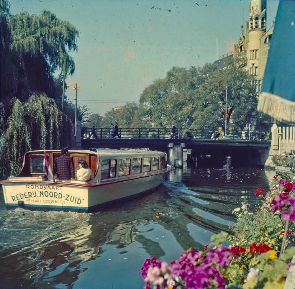 Canal Boat tour in Amsterdam c 1969