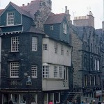 A picture of John Knox's House on the Royal Mile taken in July 1967
