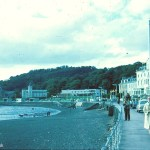 A Kodachrome slide of people walking along the seafront at Oban, Scotland in August 1967