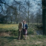 A Portrait of a couple between two trees on Boots colour slide film
