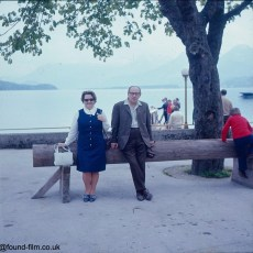 Portrait of couple near European lake