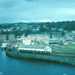 A Kodachrome slide of the Bay and the Railway yard at Oban taken in 1967