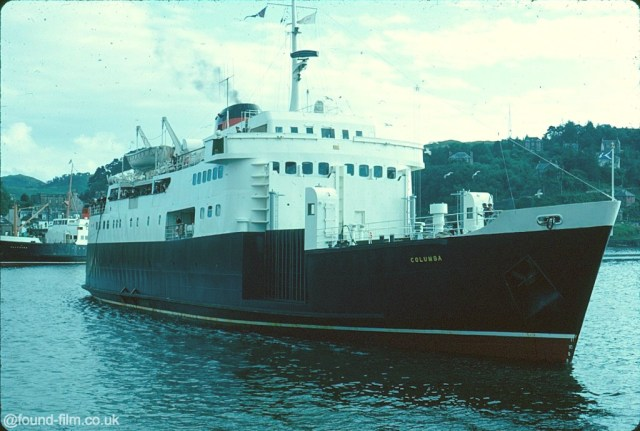 A picture of the Car Ferry Columba taken in Oban, Scotland in August 1967