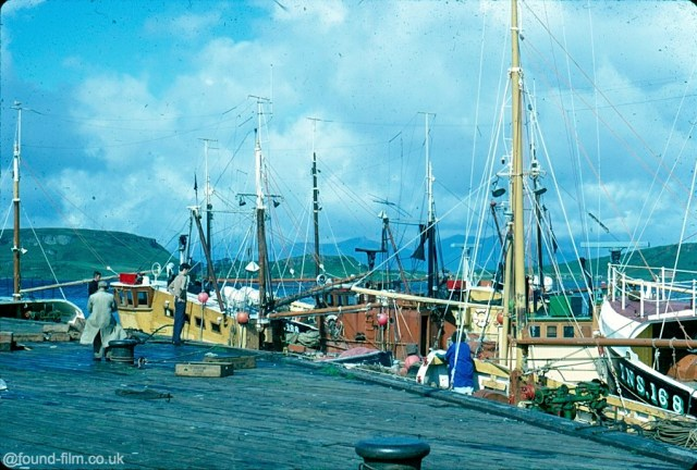 A Kodachrome slide of the Fish Dock at Oban harbour in 1967