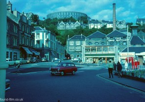 A Kodachrome slide showing the town of Oban in 1967